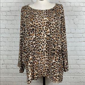 The Limited Spotted Animal Print Blouse Size 2X